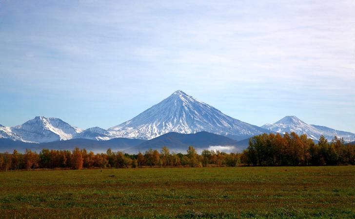 volcano snow capped
